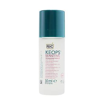 ROC KEOPS Sensitive Roll-On Deodorant 48H - Alcohol Free & Not Perfumed (Fragile Skin) 30ml/1oz