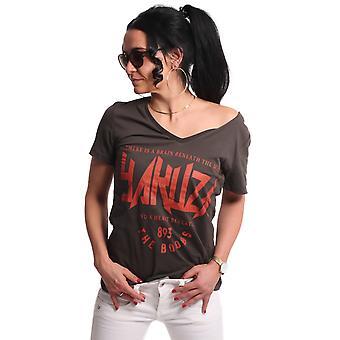 YAKUZA Women's T-Shirt Boobs V-Neck Boyfriend
