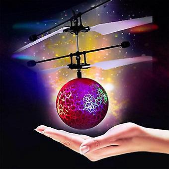Infraröd induktion Drone Flying Flash Ledde Belysning Ball Helikopter Barn Kid