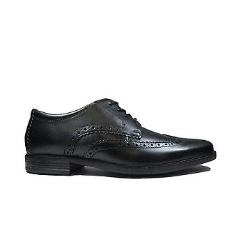 Clarks Howard Wing Black Leather Mens Lace Up Shoes