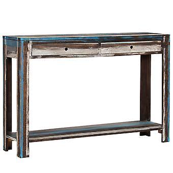 vidaXL konsolbord massivt trä Vintage 118 x 30 x 80 cm