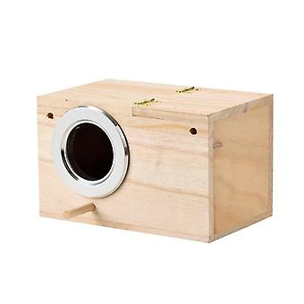 Bird Cage Parrot House Wooden Bird House Warm Bird Nest House For Small Pet |Bird Cages & Nests
