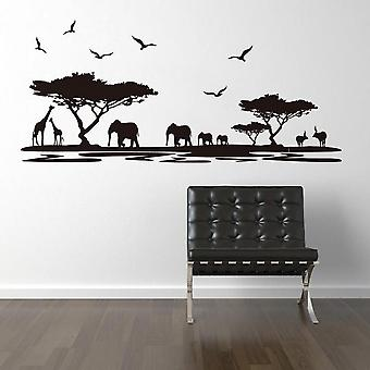 Cartoon Forest Animal Removable Wall Sticker Kids Room Decor Mural