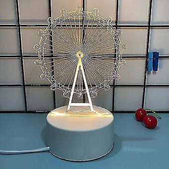 Luova 3d Night Light, kolme vaaleaa väriä, romanttinen tunnustus tyttö lahja ystävänpäivä lahja(S5)