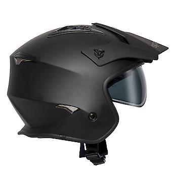 Spada Rock Open Face Helmet Matt Black