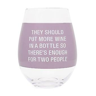Say What Wine Glass Extra Large