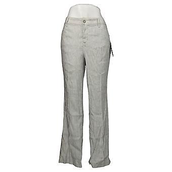 NYDJ Pantalon Slubby en Lin Femme Femme avec Poches Bleu A377711