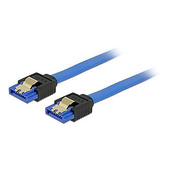 DeLOCK cable SATA, conectores rectos, SATA 6 GB/s, 0, 2 m, azul