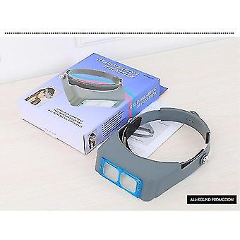 1,5x2x2,5x3,5x professioneller Kopf tragende Lupe Optivisor Augenlupe 4 Linsenlupe für Uhr