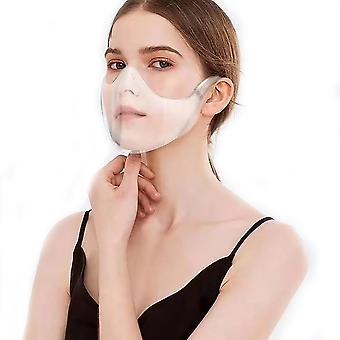 Mimigo (2pcs Inside)anti-fog Clarity Face_shield Protective Face Guard, Comfort & Safety Plastic Reusable Clear Face Protection, Breathable Anti-haze