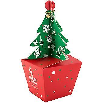 20 peças 3d Christmas Tree Candy Treat, Christmas Paper Box Gift Boxe