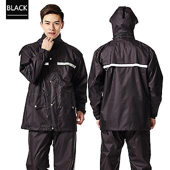 Qian-men's And Women's Raincoat And Trouser Suit, Poncho, Thickened Police Overalls