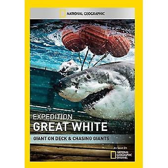 Expedition Great White: Giant on Deck & Chasing [DVD] USA import