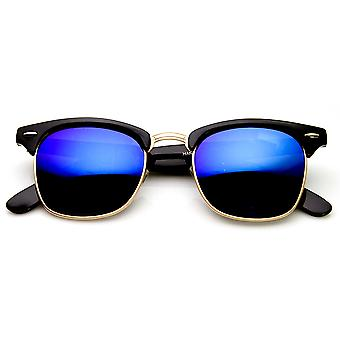 Retro mote halv ramme Flash speil linse Hornet Rimmed solbriller