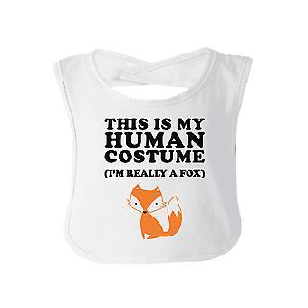 This Is My Human Costume Funny Baby Bib White Halloween Bib Gifts