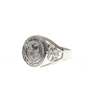 Celtic Silver Plated Crest Ring Small