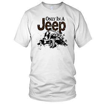 Solo In una Jeep 4 x 4 Offroad auto Ladies T Shirt