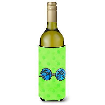 Sonnenbrille grüne Polkadot Wein Flasche Beverge Isolator Hugger