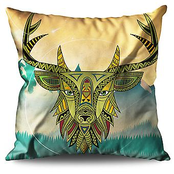 Stylish Deer Beast Linen Cushion 30cm x 30cm | Wellcoda