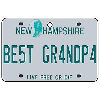 New Hampshire - bedste bedstefar licens plade bil luftfriskere