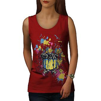 Witch Pot Art Fashion Women RedTank Top | Wellcoda