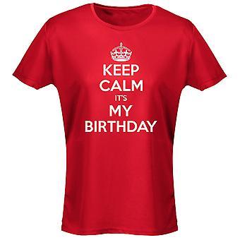 Hålla lugn det är min födelsedag Womens T-Shirt 8 färger (8-20) av swagwear