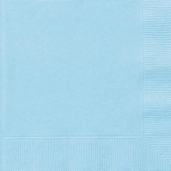 Baby Blue Serviettes 20 dans un paquet 33cm x 33cm