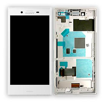 Sony display LCD complete unit with frame for Xperia X compact F5321 white spare parts