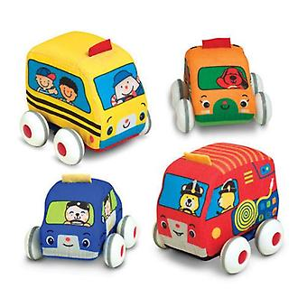 Melissa & Doug Pull Back Soft Town Vehicles