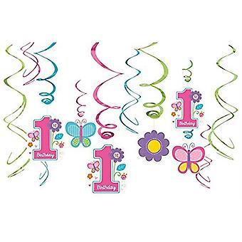 Amscan 1st Birthday Swirls Hanging Decorations