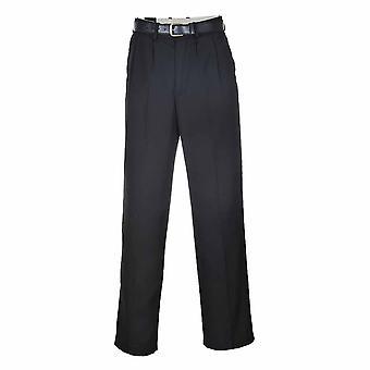 Portwest Mens Londres moderna qualidade poli-Viscose calças