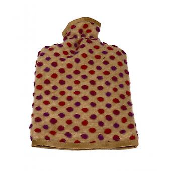 Hot water bottle cover wool nubs beige 20/30 cm