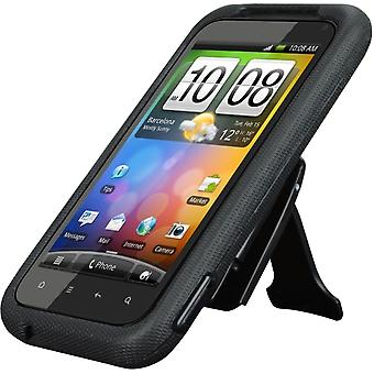 Body Glove Flex Snap-On Case with Kickstand for HTC DROID Incredible 2 (Black)