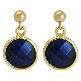 Ladies earrings 925 silver plated Sapphire Blau CANDY 2 cm