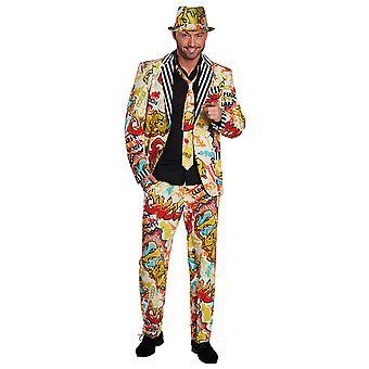 Grafitti pak mannen pak kostuum carnaval