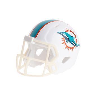 Cascos de fútbol bolsillo Riddell speed - delfines de Miami NFL