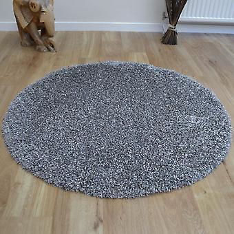 Alfombras circulares de Crepúsculo 39001 9999 plata Shaggy