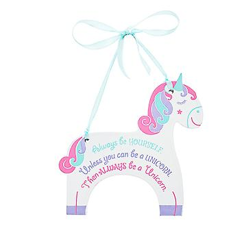 Unicorn hanging plaque