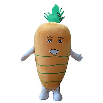mascot SPOTSOUND of orange and green, giant carrot