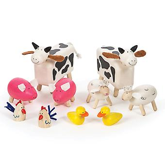 Tidlo Wooden Farm Animals