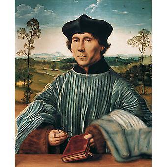 キヤノンの肖像、クエンティン・マッシーズ、60x73cm