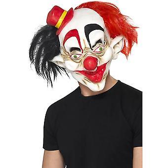 Griezelige Clown masker, zwarte & rood