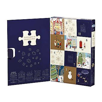 Gibsons jul Street: 12 Days Of Christmas kalender Jigsaw Puzzle (12 X 80 stykker)