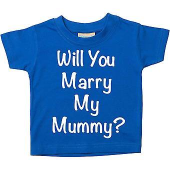 僕はママと結婚するか。青 t シャツ