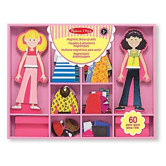 Melissa & Doug Abby en Emma Deluxe magnetische houten Dress-Up