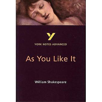 Notes de York sur Shakespeare comme vous l'aimez: étudier les Notes (Notes de York avancés)