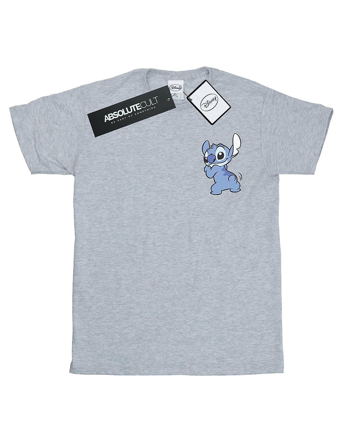 Disney Girls Lilo And Stitch Stitch Backside Breast Print T-Shirt
