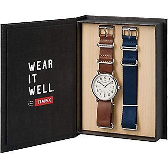 Timex Analog-Digital Quartz leather strap Unisex Adult TWG012500