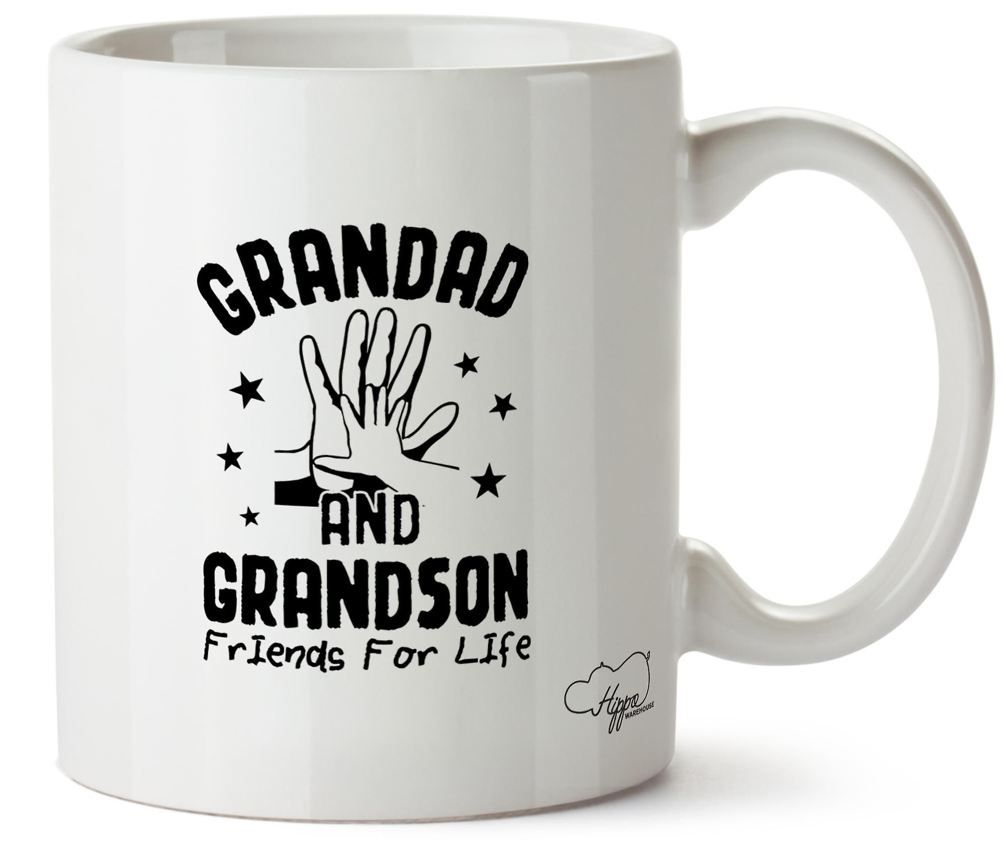 Hippowarehouse Grandad And Grandson Friends For Life 10oz Mug Cup