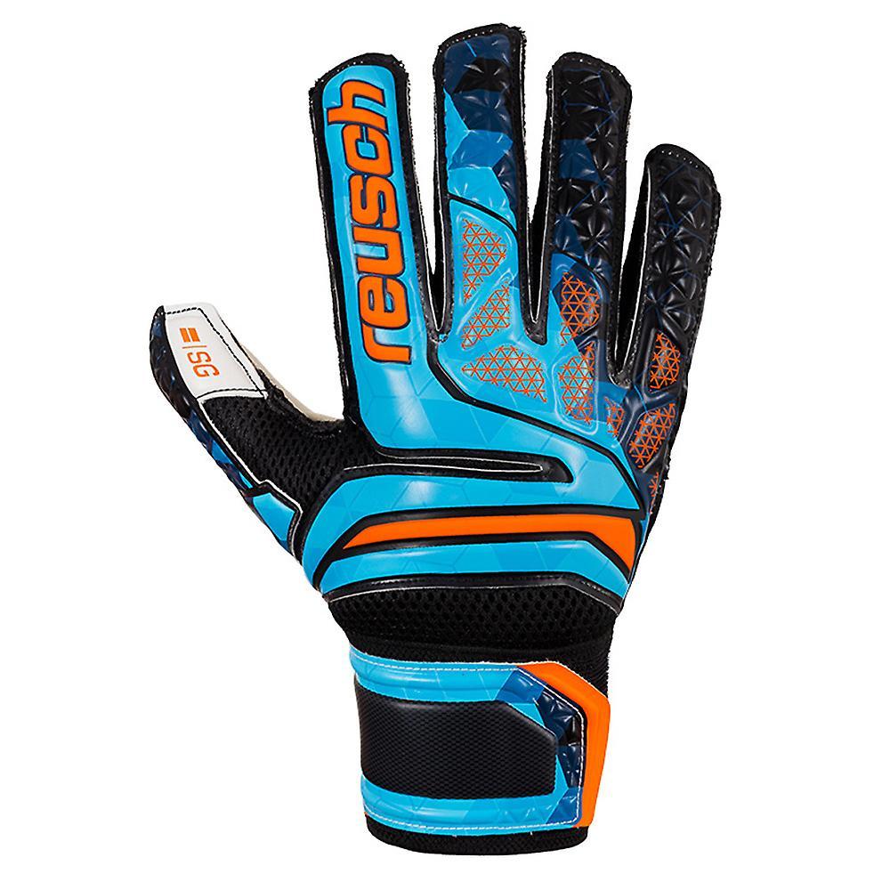 Reusch Prisma SG Finger Support LTD Mens Goalkeeper Glove Black/Blue/Orange